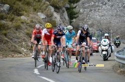 The breakaway on the Col de l'Ecre