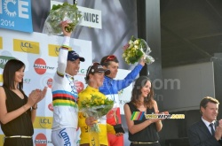 The final podium of Paris-Nice 2014