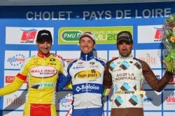 Le podium de Cholet Pays de Loire 2014
