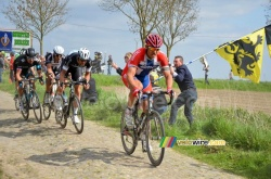 Thor Hushovd sur Paris-Roubaix 2014