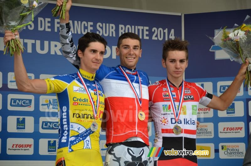 The podium of the French Championships amateurs: Mainard, Guyot & Turgis