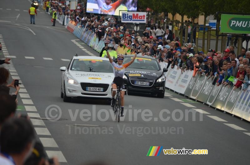 Pauline Ferrand Prevot (Rabo Liv) on her way to victory
