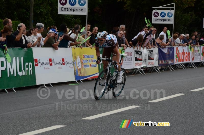 Nico Denz (AG2R La Mondiale) attacks at one lap from the finish