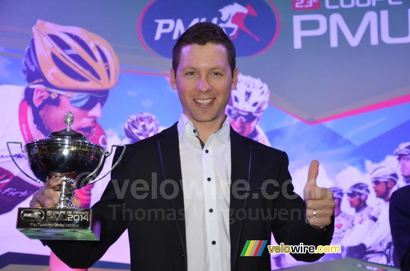 Julien Simon (Cofidis), winnaar van de Coupe de France PMU 2014 (3)