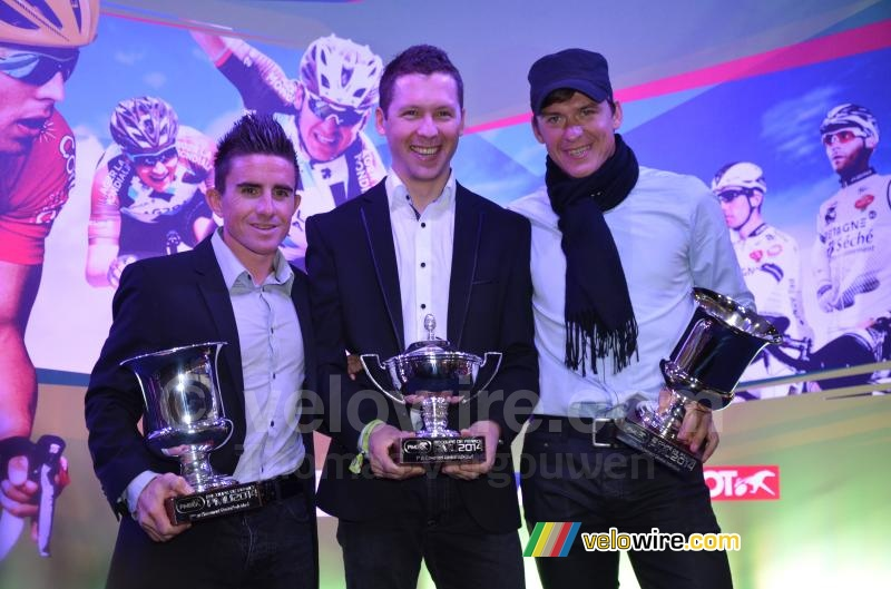 The three best riders of the Coupe de France PMU 2014