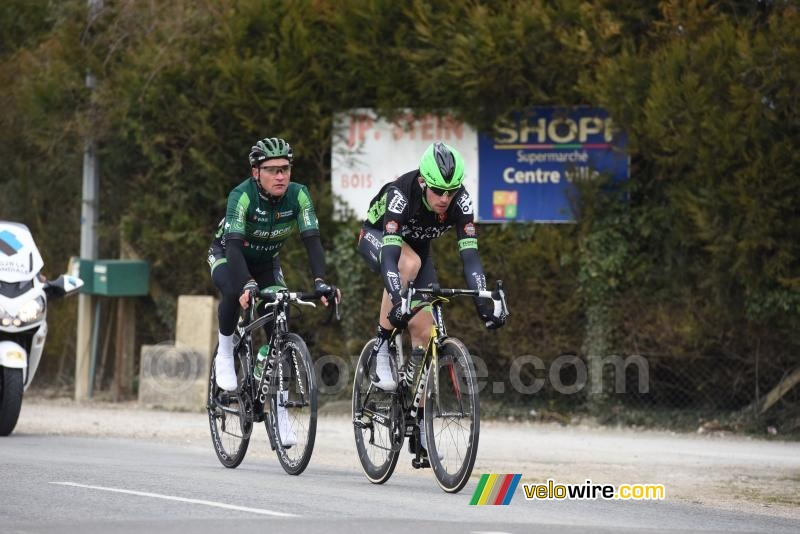 Anthony Delaplace (Bretagne-Séché) & Thomas Voeckler (Europcar) in the breakaway (3)