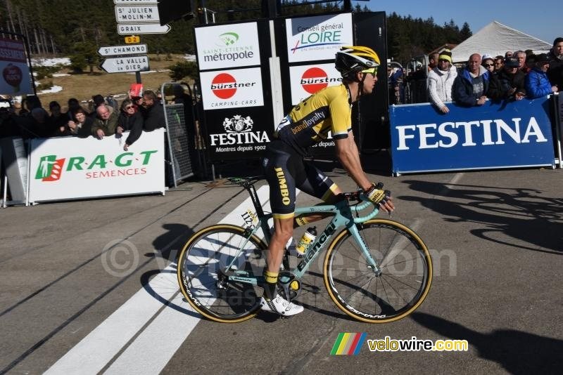 George Bennet (LottoNL-Jumbo), aan de finish