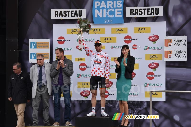 Thomas de Gendt (Lotto-Soudal) in the polka dot jersey