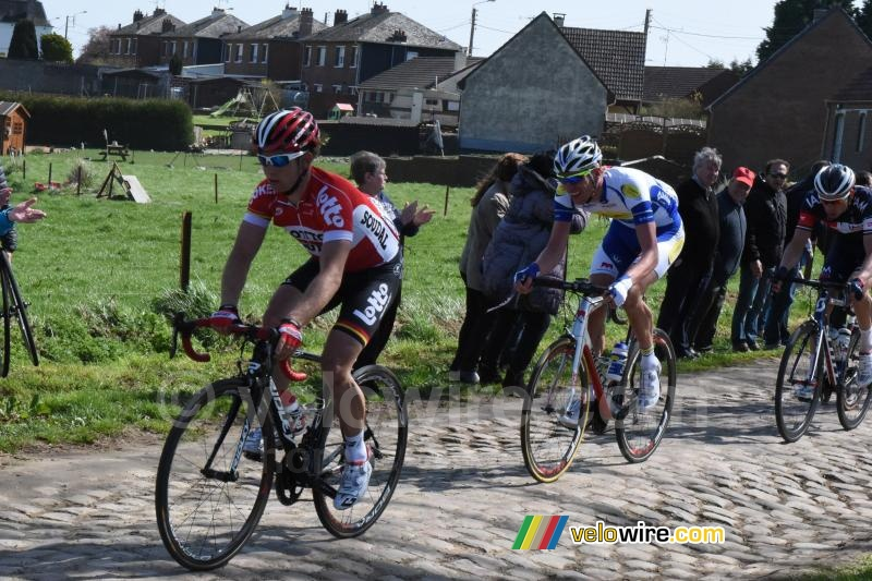 Sean de Bie (Lotto-Soudal) in the section from Viesly to Quiévy