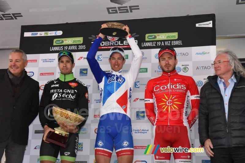 The podium of the Tro Bro Léon 2015