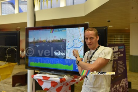The video of the time trial by @velowire_com in Hoog Catharijne