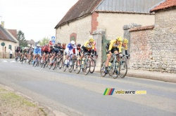 The breakaway with 31 riders