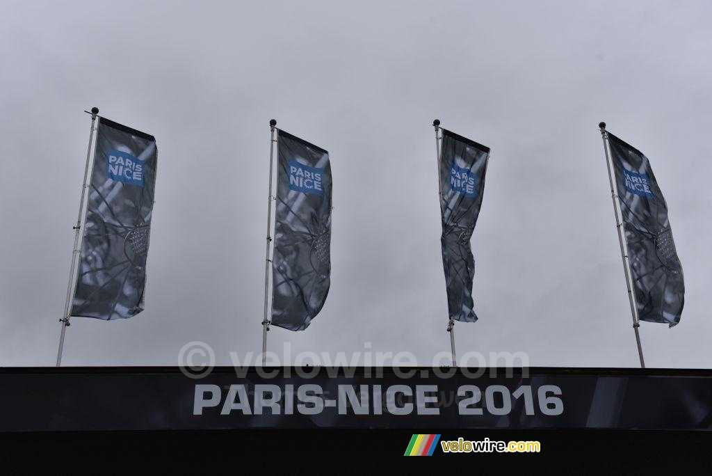 Today's weather conditions in Paris-Nice are quite bad!