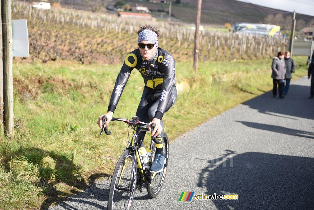 Antoine Duchesne (Direct Energie) sticking out his tongue