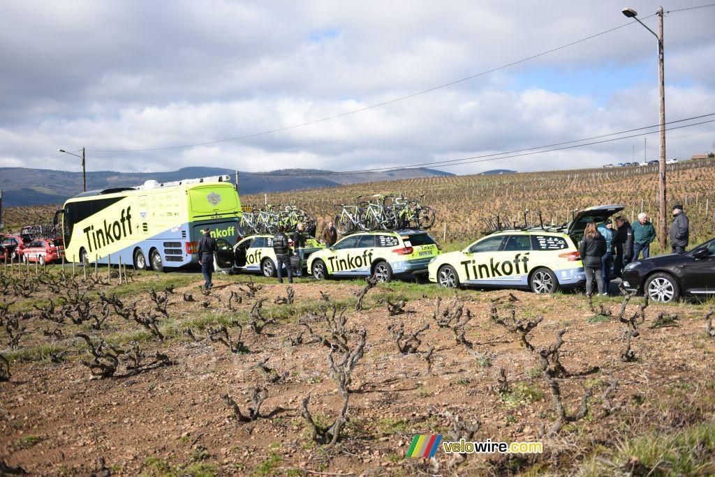 The start in the wineyards: Tinkoff