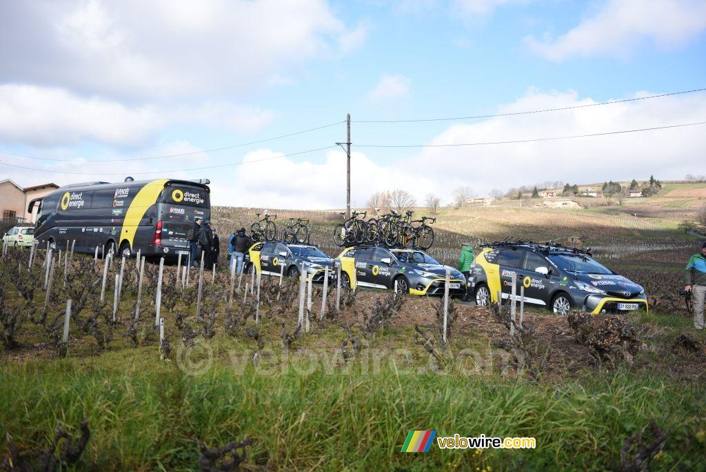 The start in the wineyards: Direct Energie