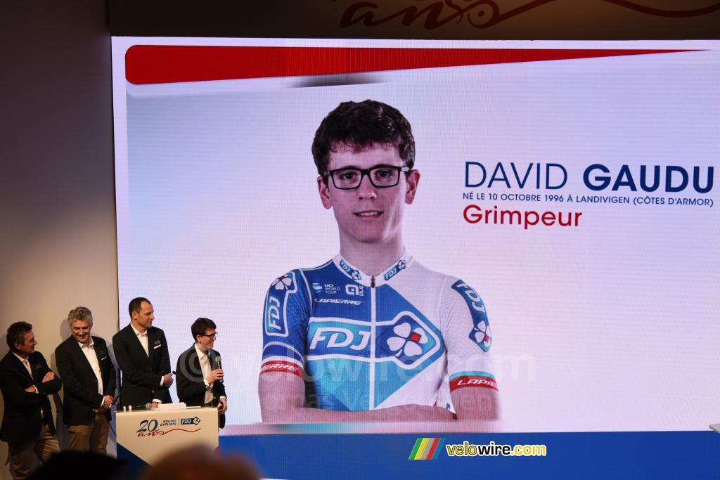 David Gaudu, neo-pro, is 20 years old, like the team