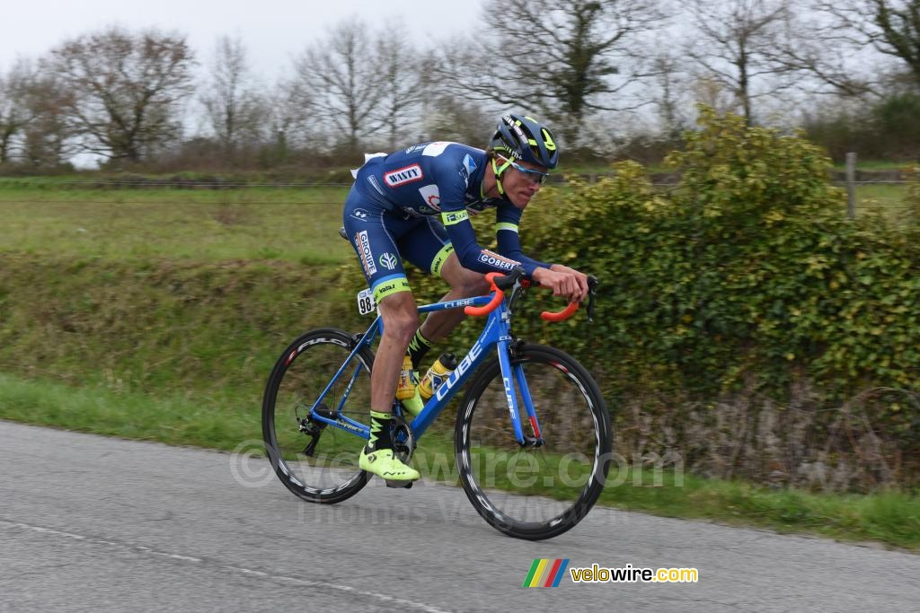 Yoann Offredo (Wanty-Groupe Gobert) in de tegenaanval
