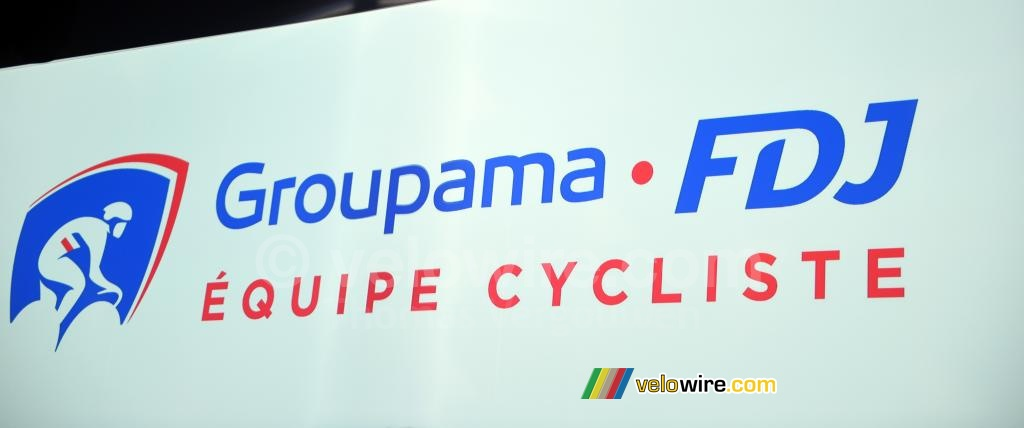 The logo of the Groupama-FDJ cycling team
