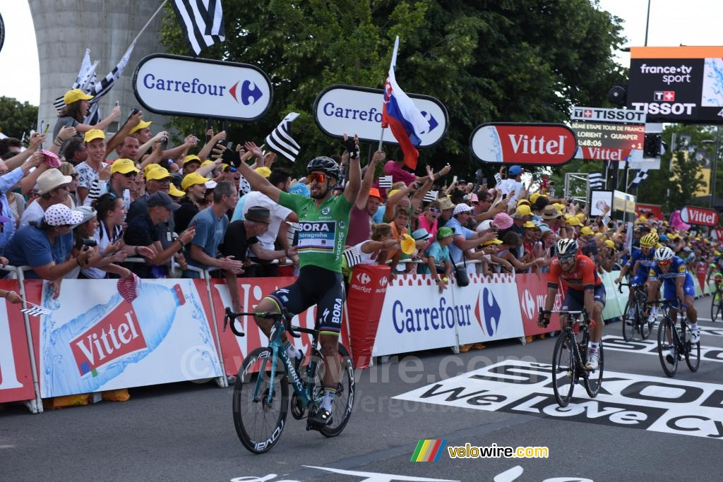 Peter Sagan (Bora-Hansgrohe) takes his 2nd victory in Quimper