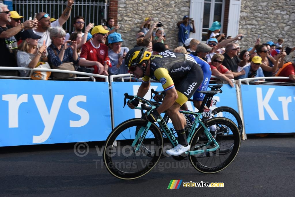 Dylan Groenewegen (Lotto NL-Jumbo) wins the stage in Chartres