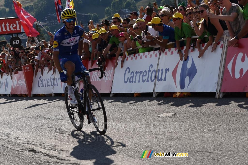 Julian Alaphilippe (Quick-Step) on his way to victory in Le Grand Bornand