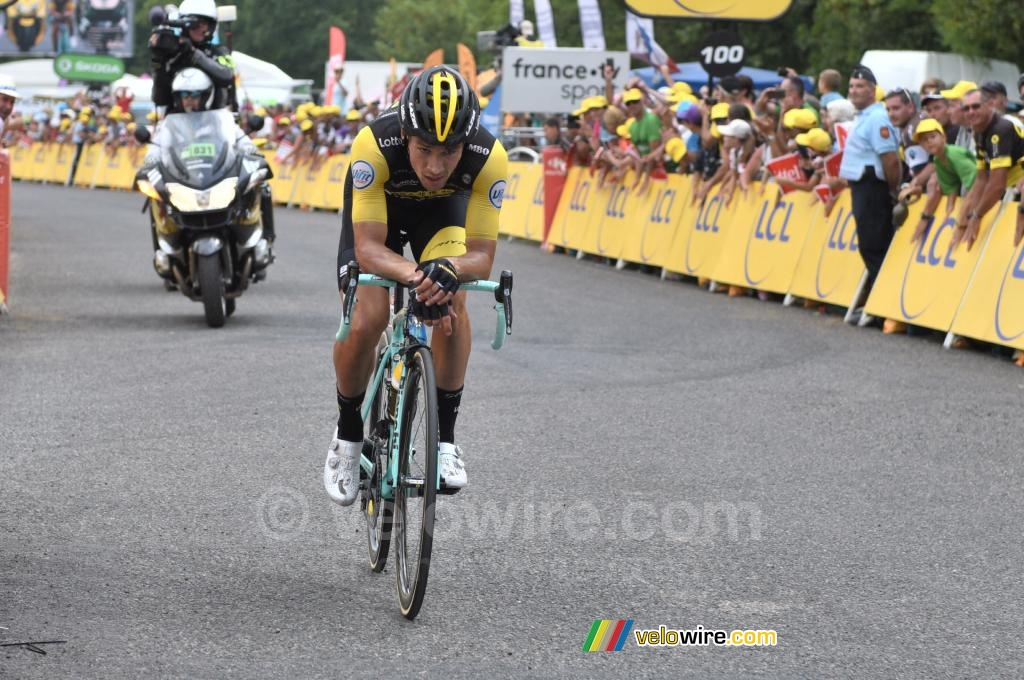 Primož Roglič (Lotto NL-Jumbo) wins the stage in Laruns