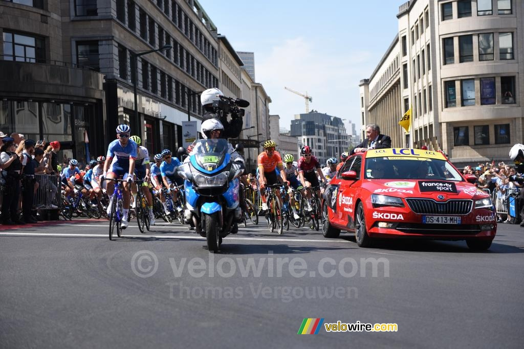 The start of the first stage of the Tour de France 2019 in Brussels