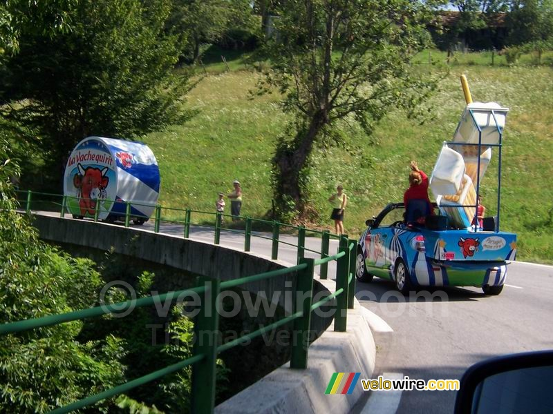 The La Vache Qui Rit packaging and one of the cars at the bend - [1 day in the La Vache Qui Rit