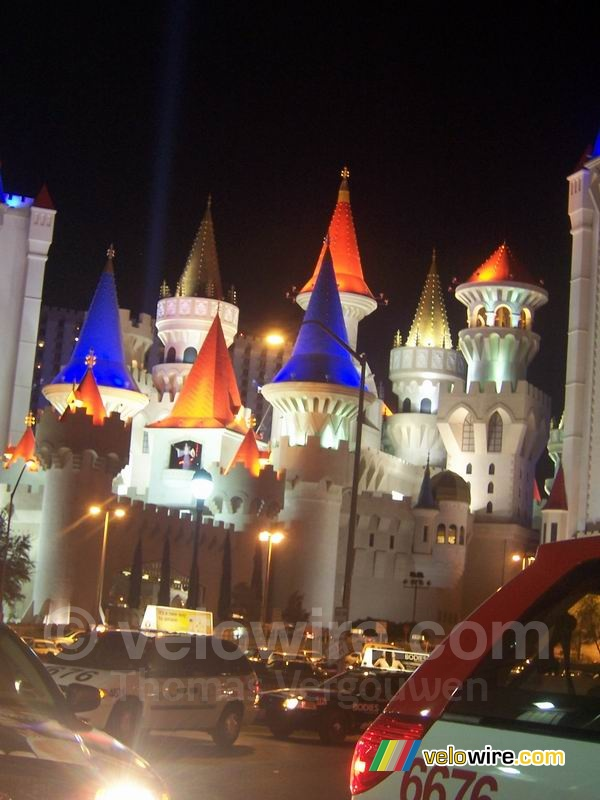 The Excalibur Hotel (by night)