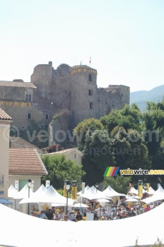The castle of Tallard above the Village D�part of the Tour de France in 2007
