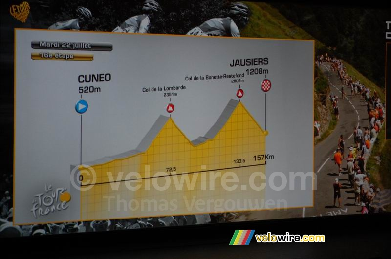 Cuneo (Ita) > Jausiers - sixteenth stage, Tuesday 22 July