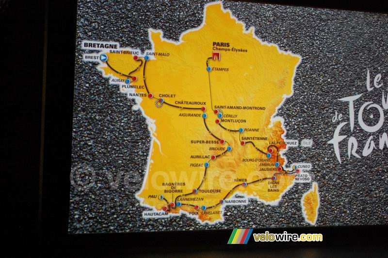 The map of the Tour de France 2008 track (1)