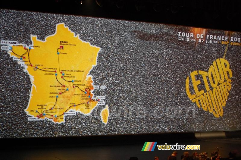 The map of the Tour de France 2008 track (2)