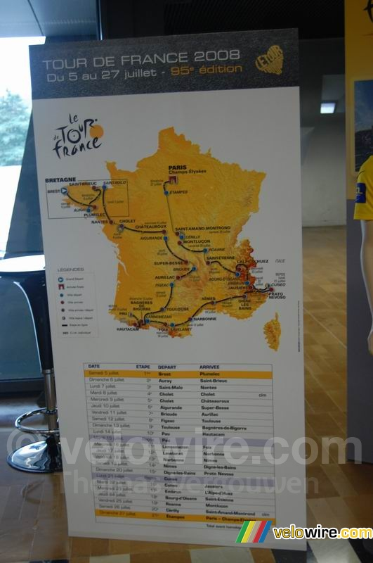 The map of the Tour de France 2008 track (3)