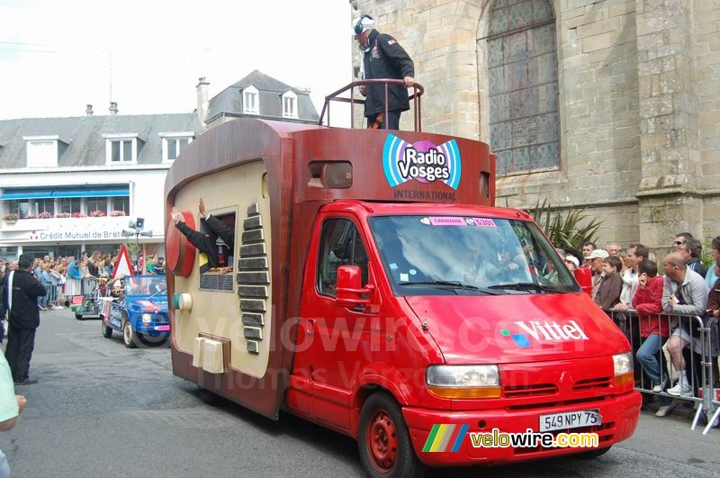 Vittel advertising caravan : Radio Vosges International