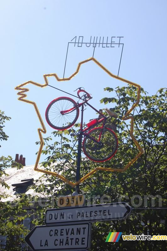 Decoration in Aigurande : France, a real bike country