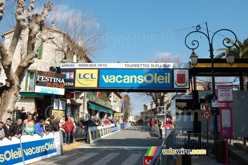 De finish in Tourrettes-sur-Loup