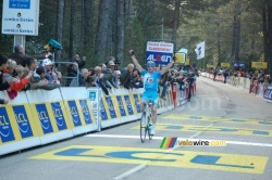 The finish on the Col de l'Ospedale
