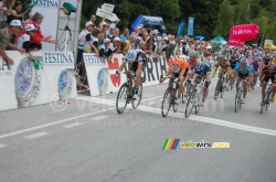The sprint in Sierre