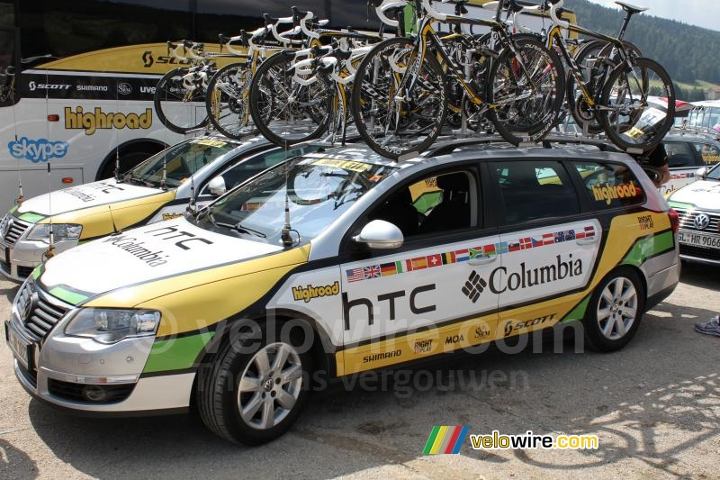 The HTC-Columbia car