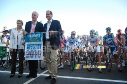 The start of Paris-Tours 2010 in La Loupe
