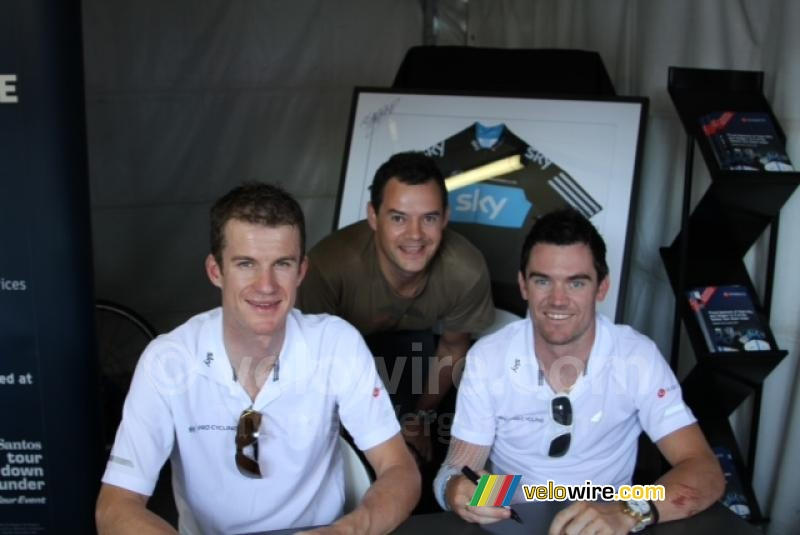 Michael Rogers & Chris Sutton (Team Sky) with Tim