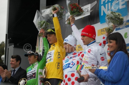 Le podium de Paris-Nice 2011