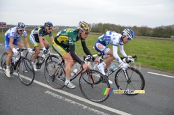 Frédéric Amorison (Landbouwkrediet), Anthony Geslin (FDJ), Jean Marc Marino (Saur-Sojasun) & Lieuwe Westra (Vacansoleil-DCM Pro Cycling Team)