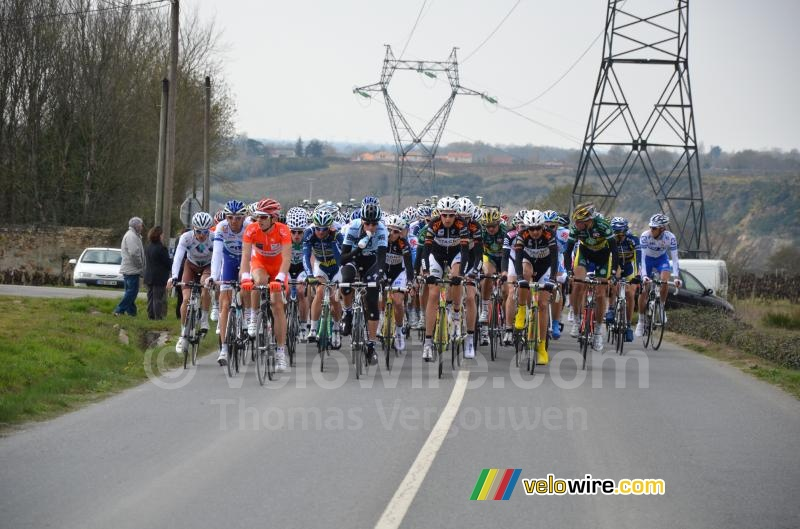 Laurent Didier (Saxo Bank-Sungard) in het peloton