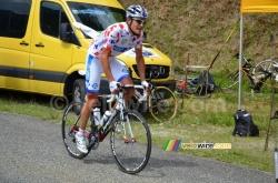 Jérémy Roy wearing the polka dot jersey